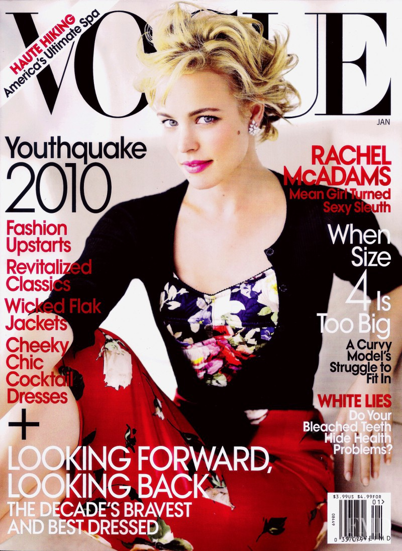 Rachel McAdams featured on the Vogue USA cover from January 2010