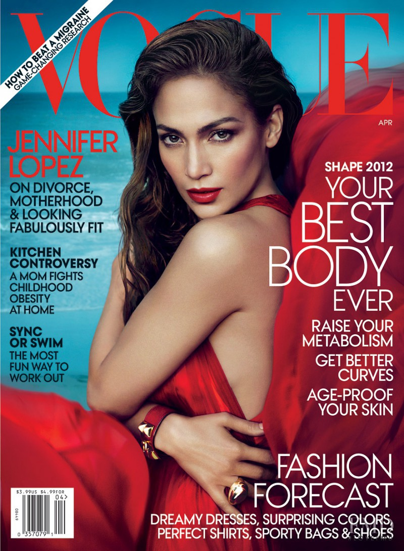 Jennifer Lopez featured on the Vogue USA cover from April 2012