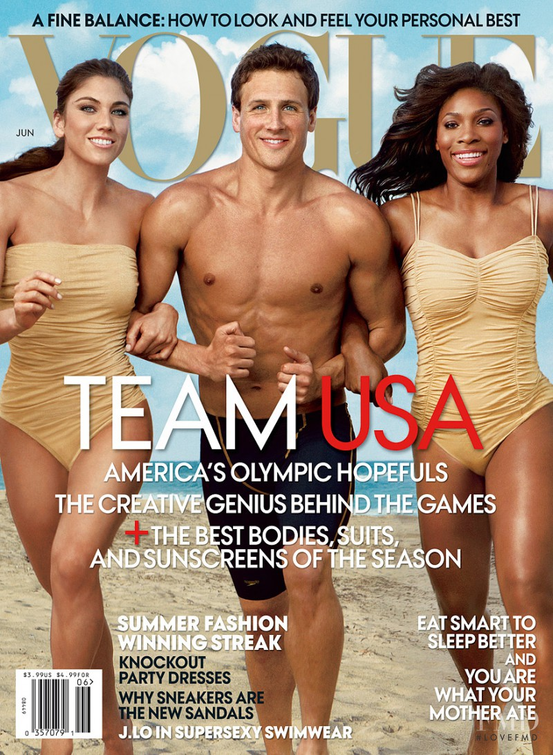 Hope Solo, Ryan Lochte, Serena Williams featured on the Vogue USA cover from June 2012