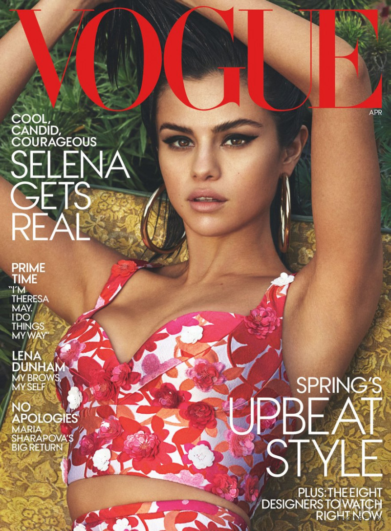 Selena Gomez featured on the Vogue USA cover from April 2017