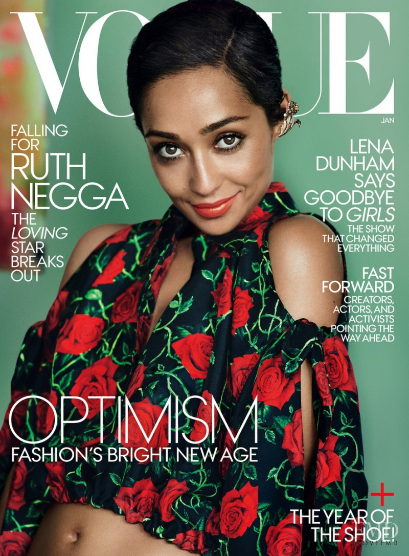Ruth Negga featured on the Vogue USA cover from January 2017