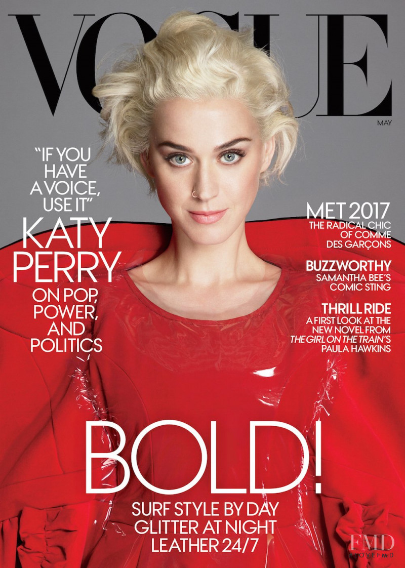 Katy Perry featured on the Vogue USA cover from May 2017
