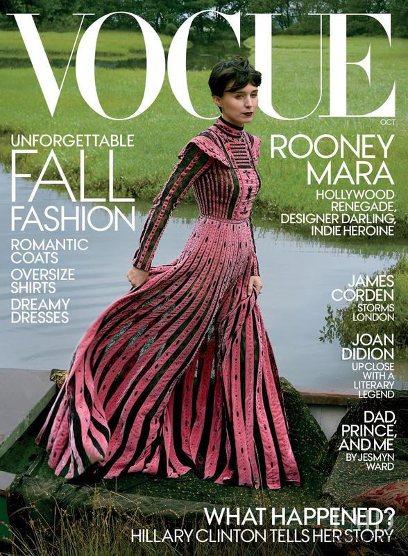 Rooney Mara featured on the Vogue USA cover from October 2017