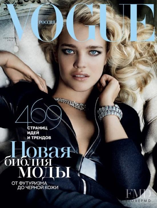 Natalia Vodianova featured on the Vogue Russia cover from September 2012