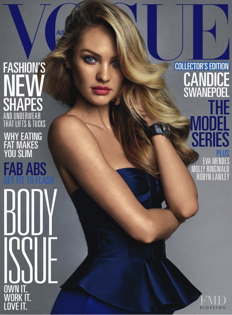 Candice Swanepoel featured on the Vogue Australia cover from June 2013