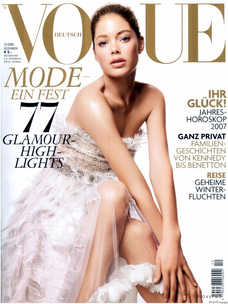 Doutzen Kroes featured on the Vogue Germany cover from December 2006