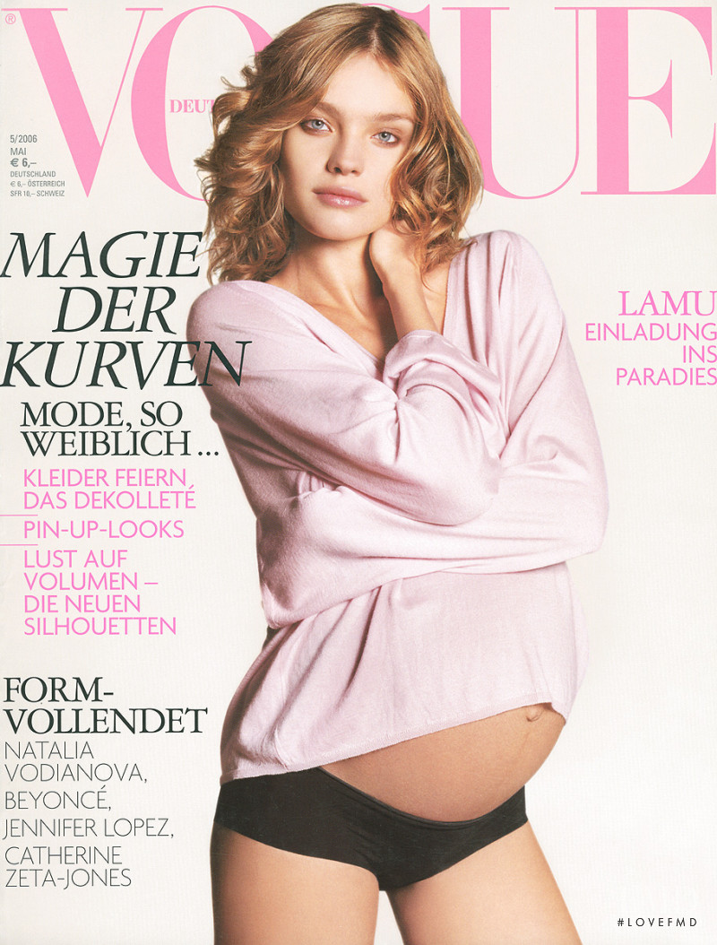 Natalia Vodianova featured on the Vogue Germany cover from May 2006