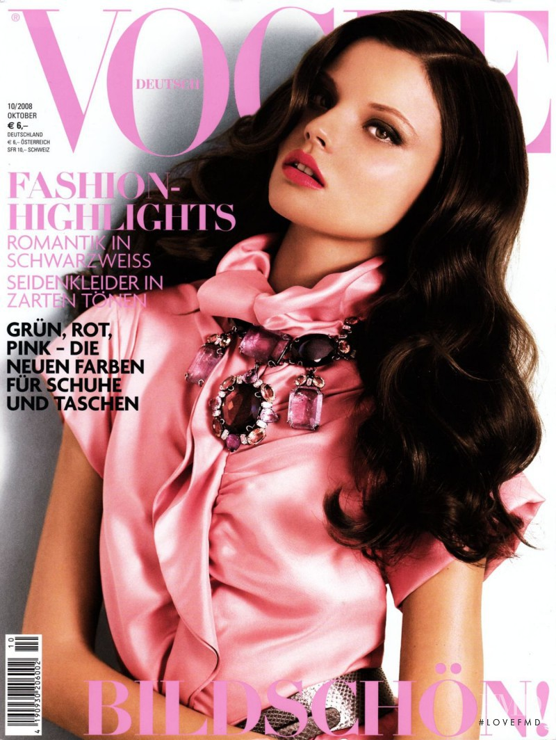 Magdalena Frackowiak featured on the Vogue Germany cover from October 2008
