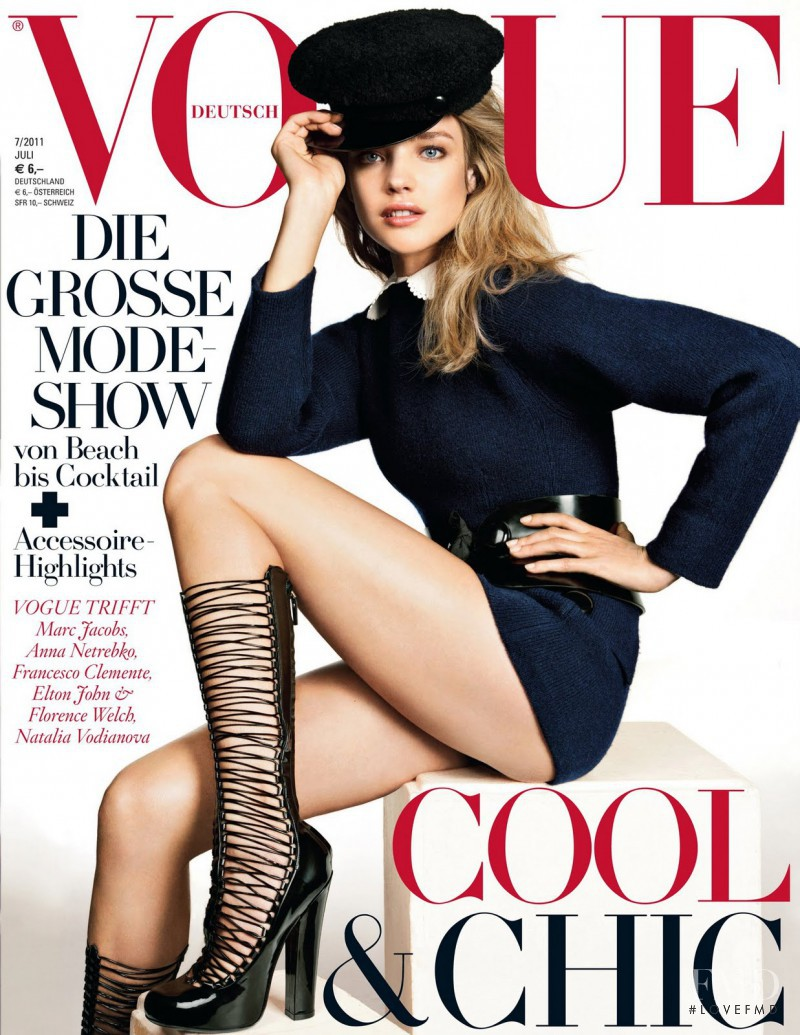 Natalia Vodianova featured on the Vogue Germany cover from July 2011