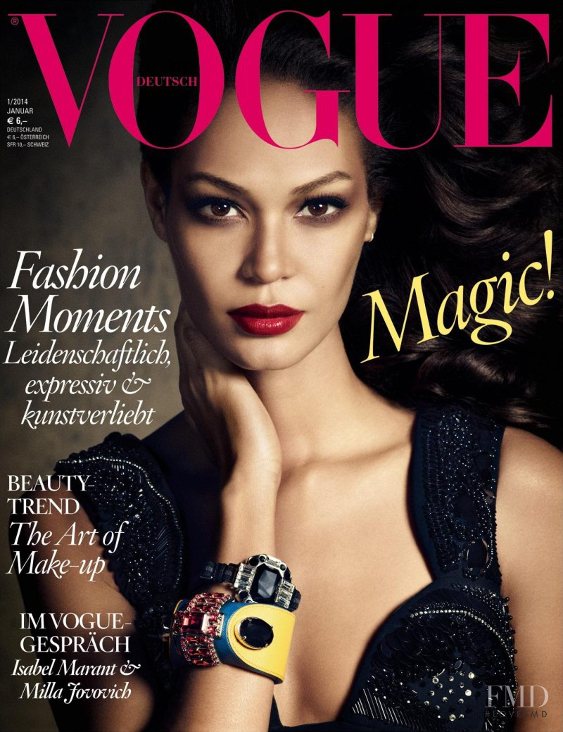 Joan Smalls featured on the Vogue Germany cover from January 2014