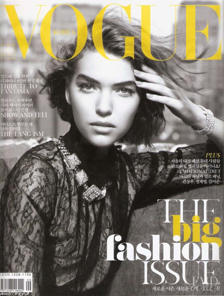 Arizona Muse featured on the Vogue Korea cover from September 2011