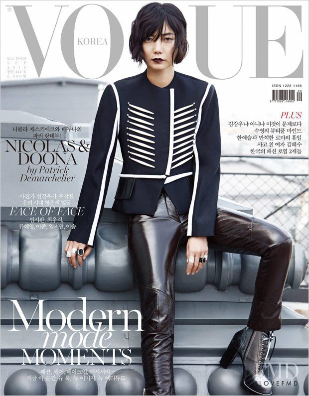 Bae Doona featured on the Vogue Korea cover from September 2016