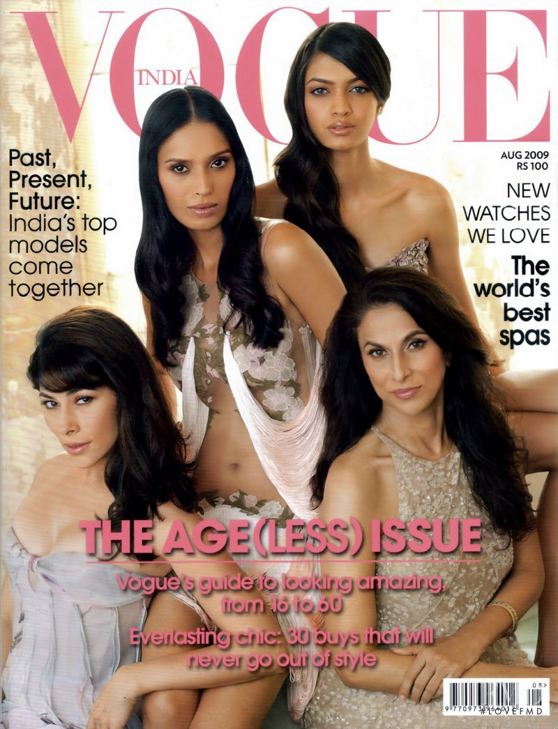 Deepika Padukone, Feroze Gujral, Shobha De featured on the Vogue India cover from August 2009
