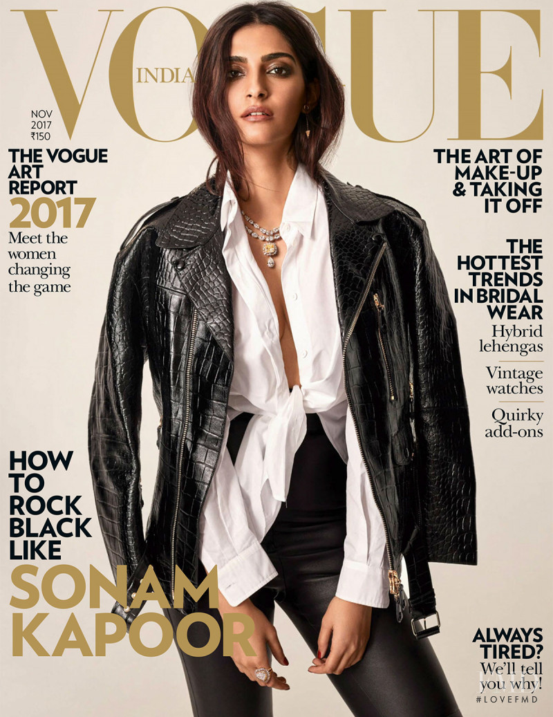 Sonam Kapoor featured on the Vogue India cover from November 2017