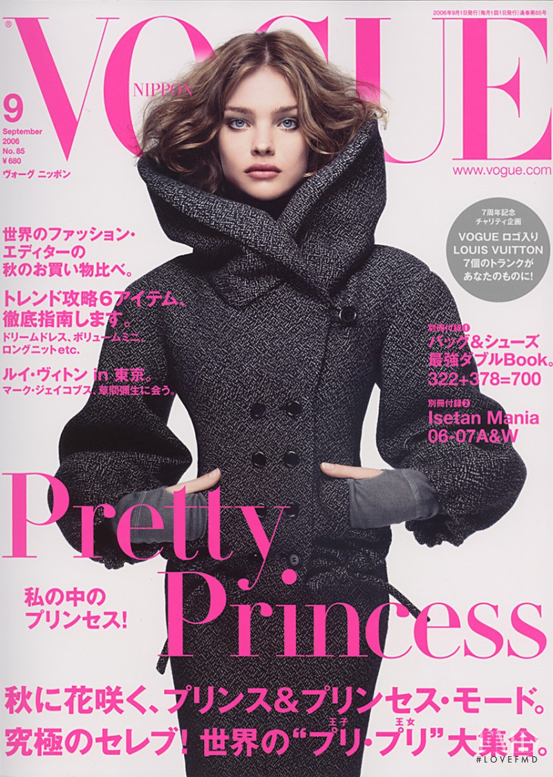 Natalia Vodianova featured on the Vogue Japan cover from September 2006