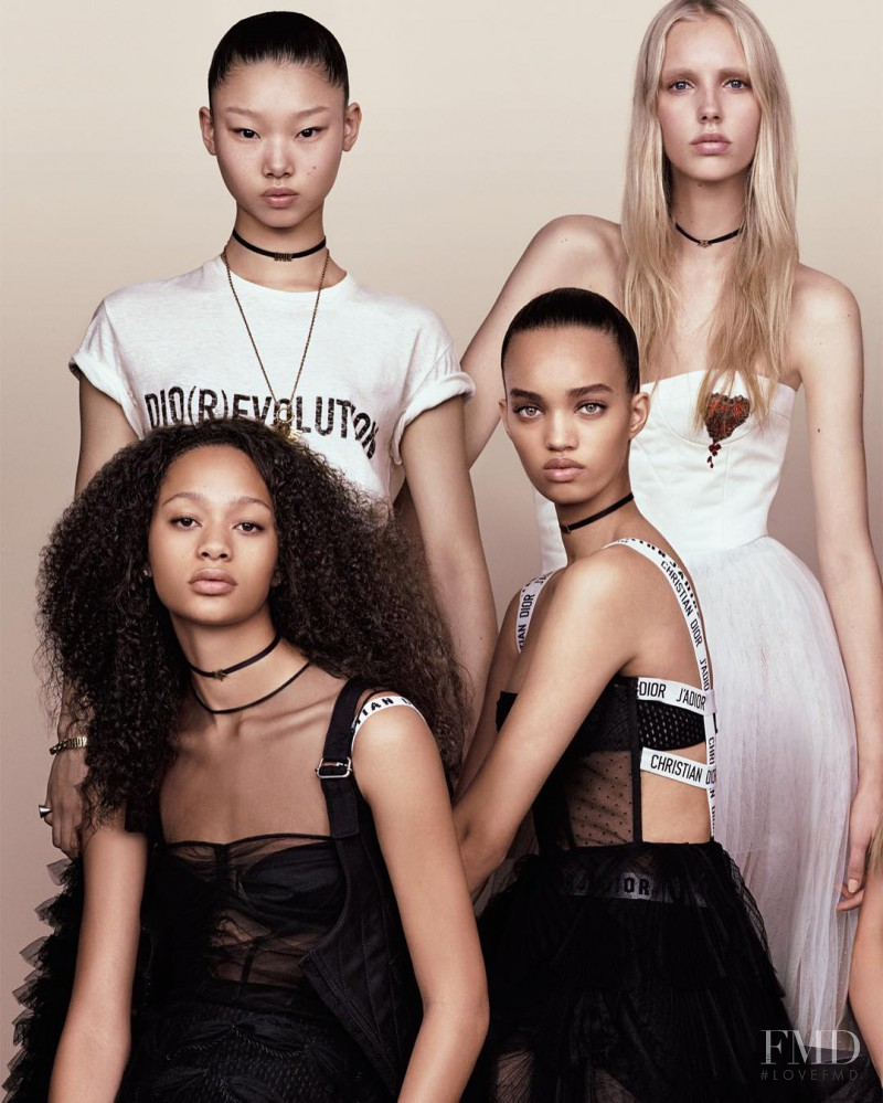 Jessie Bloemendaal, Yoon Young Bae, Selena Forrest featured on the Vogue Japan cover from February 2017