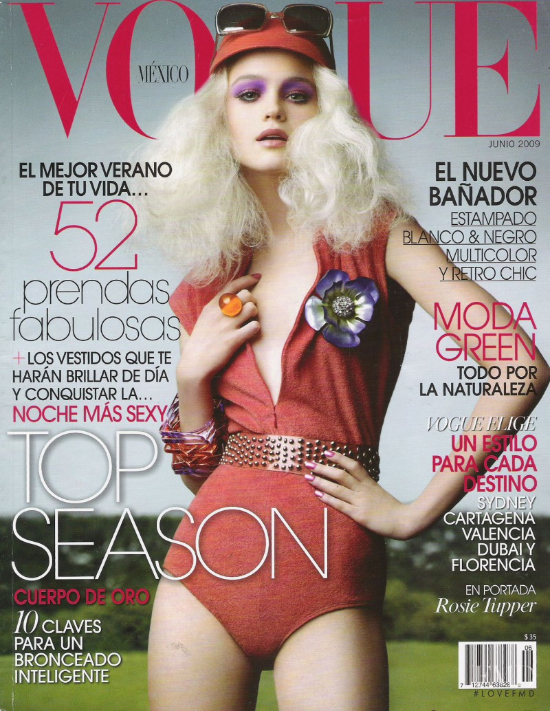 Rosie Tupper featured on the Vogue Mexico cover from June 2009