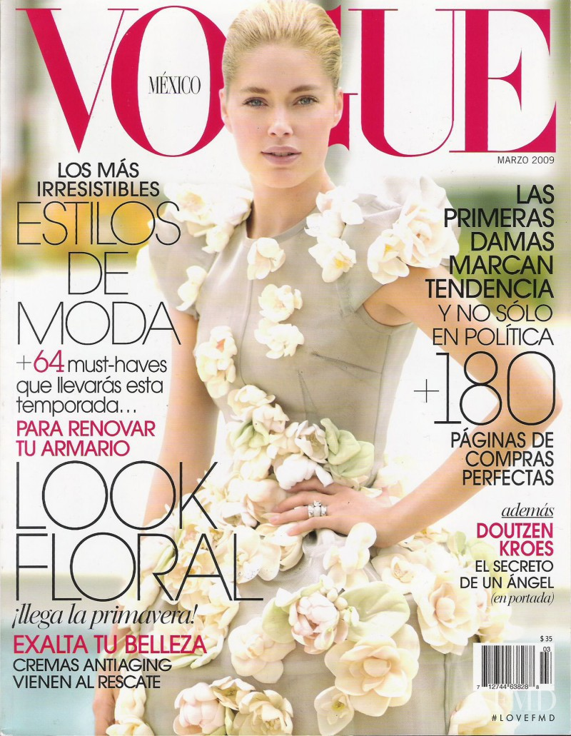 Doutzen Kroes featured on the Vogue Mexico cover from March 2009