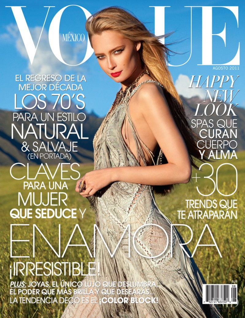 Tiiu Kuik featured on the Vogue Mexico cover from August 2011