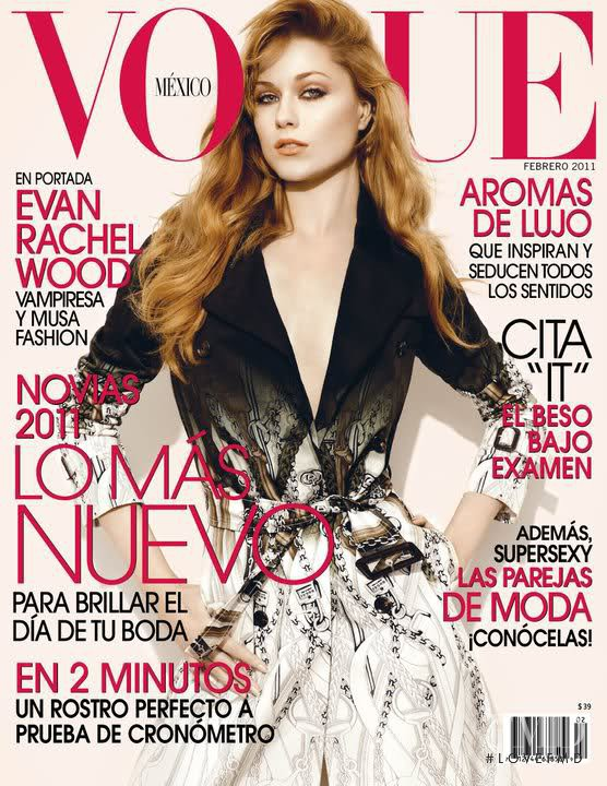 Evan Rachel featured on the Vogue Mexico cover from February 2011