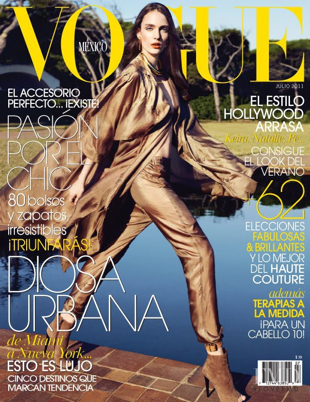 Zuzanna Bijoch featured on the Vogue Mexico cover from July 2011