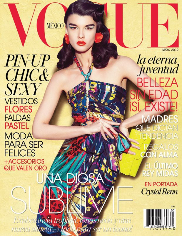 Crystal Renn featured on the Vogue Mexico cover from May 2012