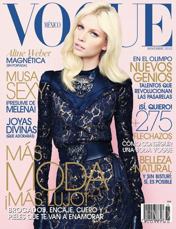 Aline Weber featured on the Vogue Mexico cover from November 2012