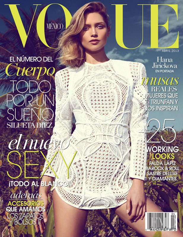 Hana Jirickova featured on the Vogue Mexico cover from April 2013
