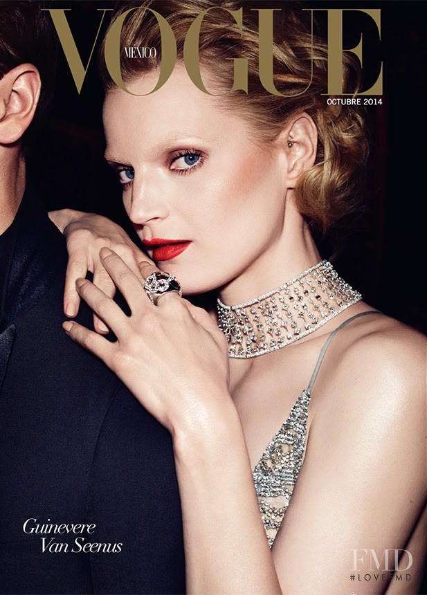 Guinevere van Seenus featured on the Vogue Mexico cover from October 2014