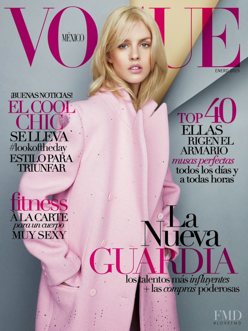 Julia Frauche featured on the Vogue Mexico cover from January 2015