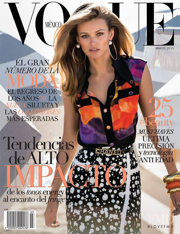 Edita Vilkeviciute featured on the Vogue Mexico cover from March 2015