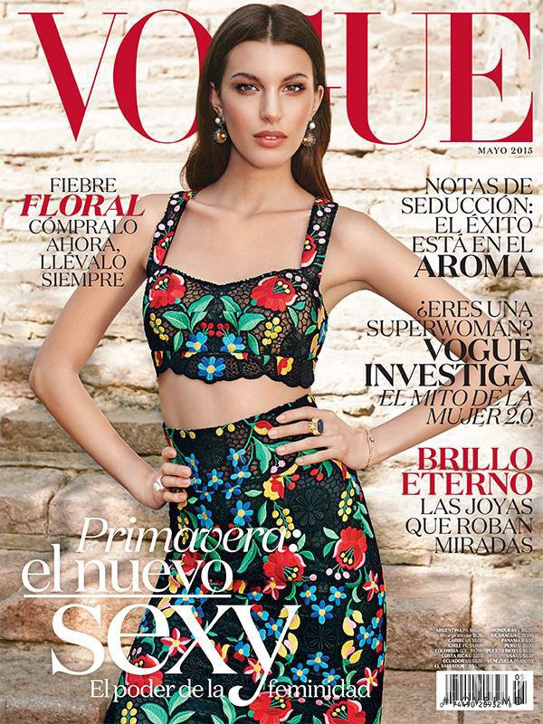 Kate King featured on the Vogue Mexico cover from May 2015