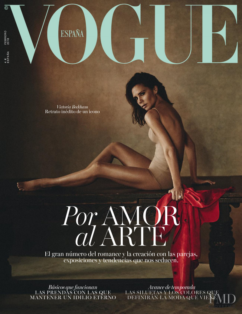Victoria Beckham featured on the Vogue Spain cover from February 2018