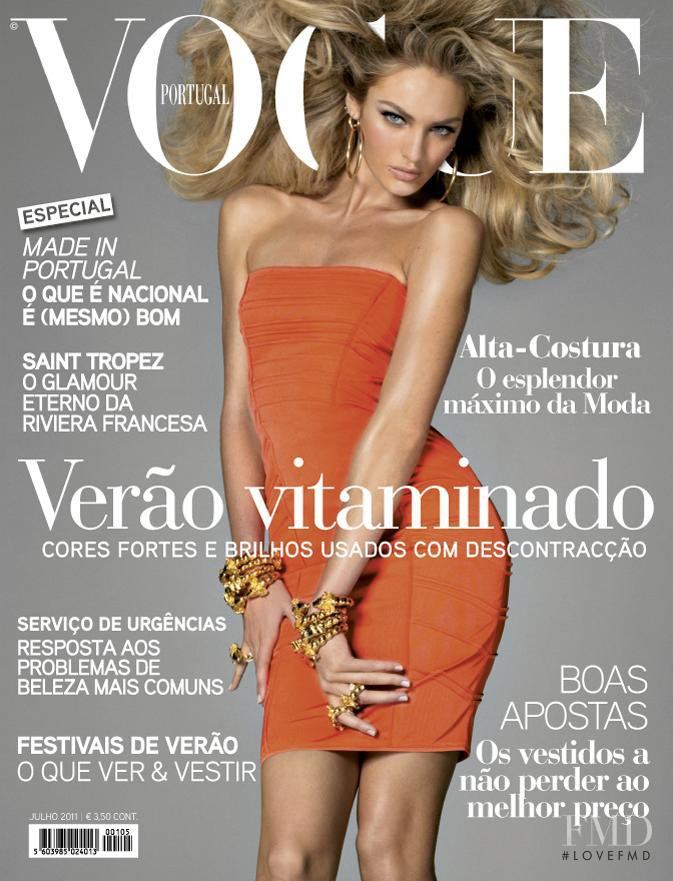 Candice Swanepoel featured on the Vogue Portugal cover from July 2011