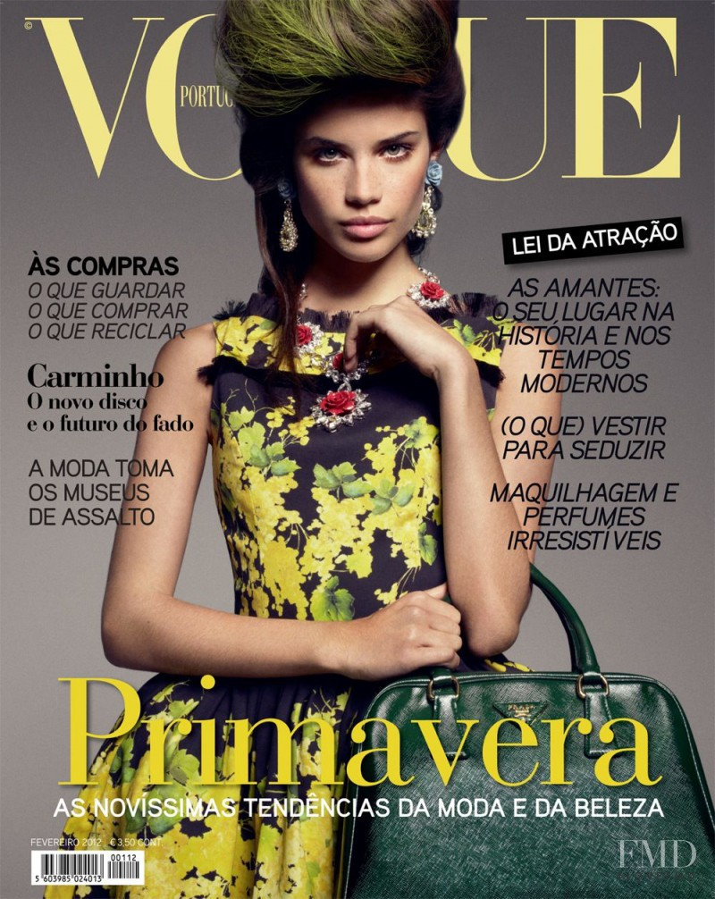 Sara Sampaio featured on the Vogue Portugal cover from February 2012