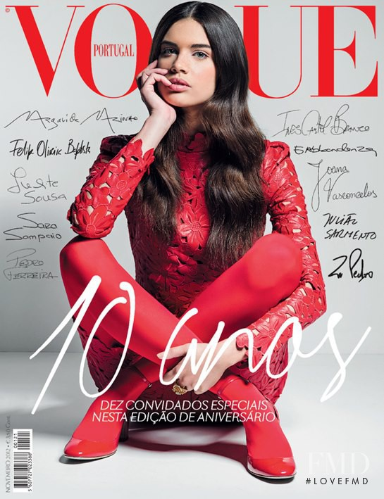 Sara Sampaio featured on the Vogue Portugal cover from November 2012