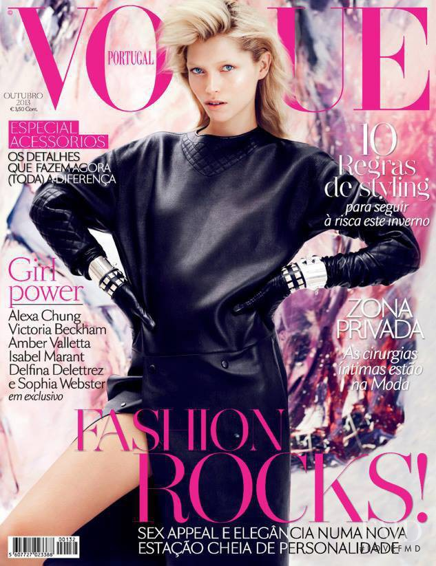 Hana Jirickova featured on the Vogue Portugal cover from October 2013