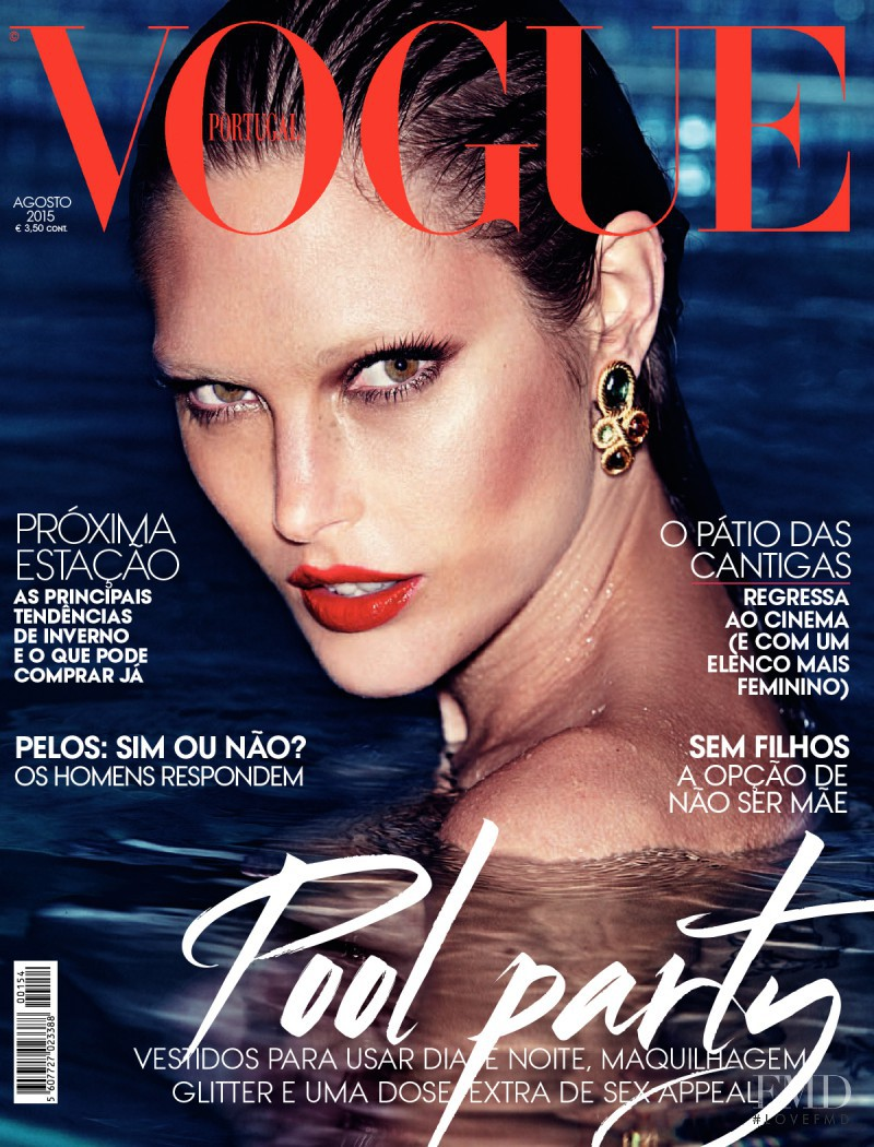 Catherine McNeil featured on the Vogue Portugal cover from August 2015