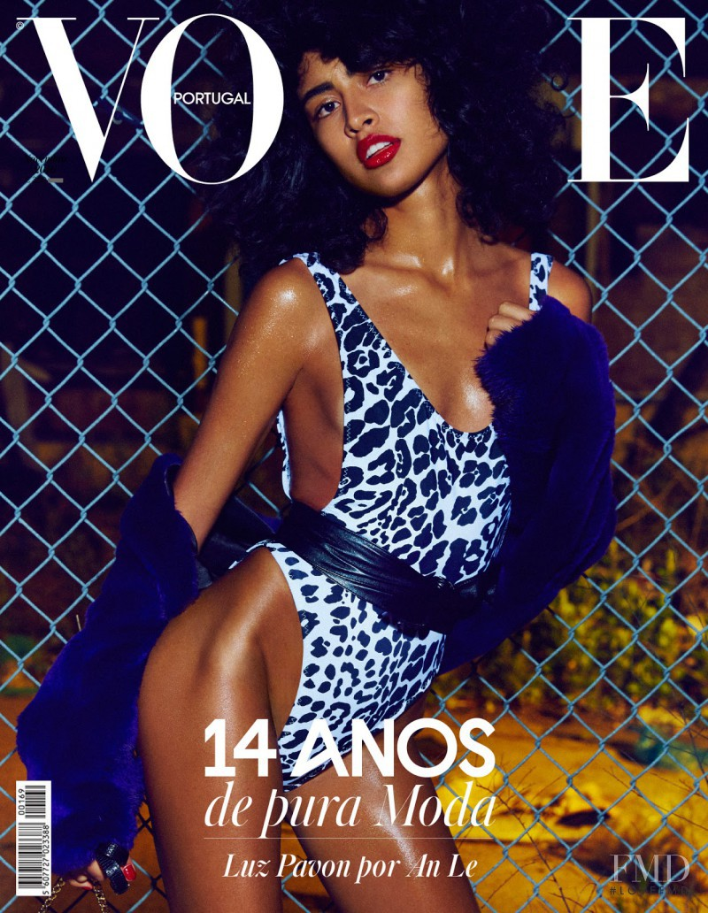 Luz Pavon featured on the Vogue Portugal cover from November 2016