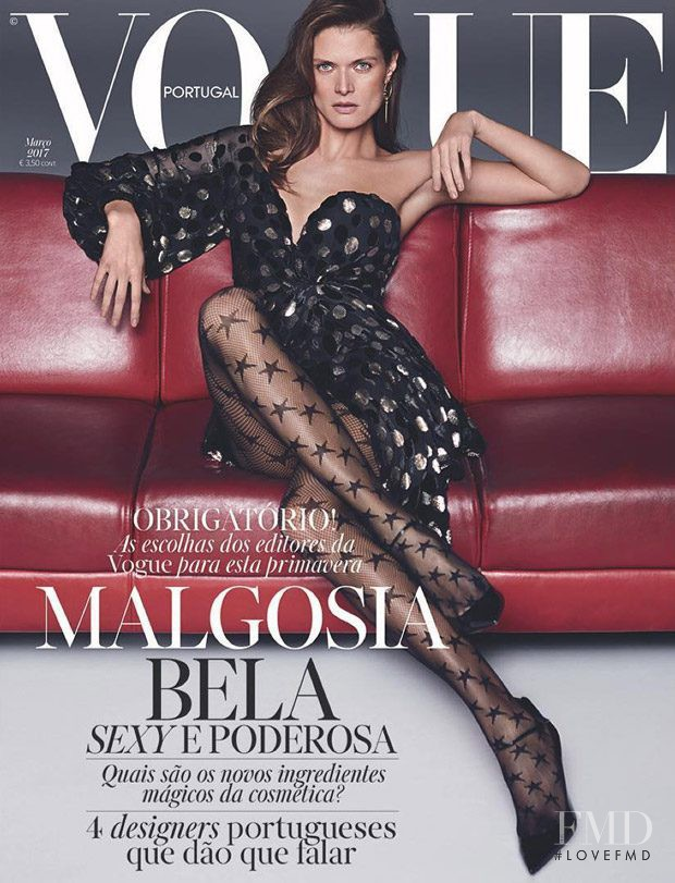 Malgosia Bela featured on the Vogue Portugal cover from March 2017