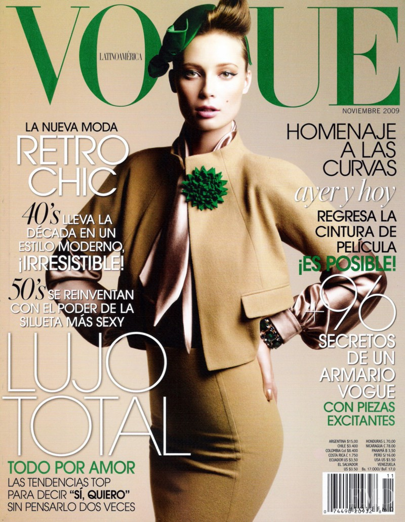 Tiiu Kuik featured on the Vogue Latin America cover from November 2009