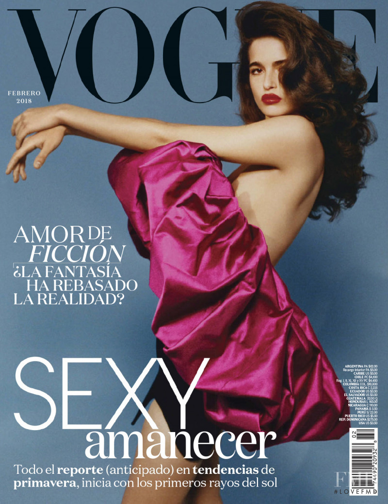 Chiara Scelsi featured on the Vogue Latin America cover from February 2018