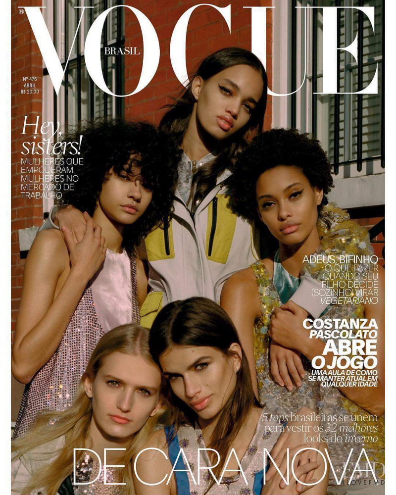 Ellen Rosa, Linda Helena featured on the Vogue Brazil cover from April 2018