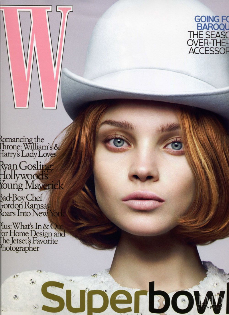 Natalia Vodianova featured on the W cover from August 2006