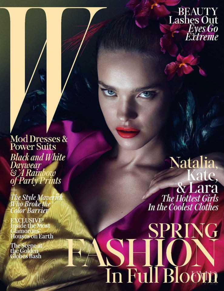 Natalia Vodianova featured on the W cover from March 2013