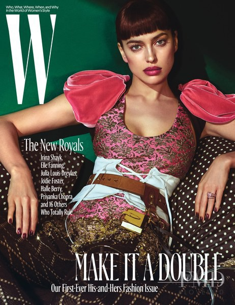 Irina Shayk featured on the W cover from October 2016