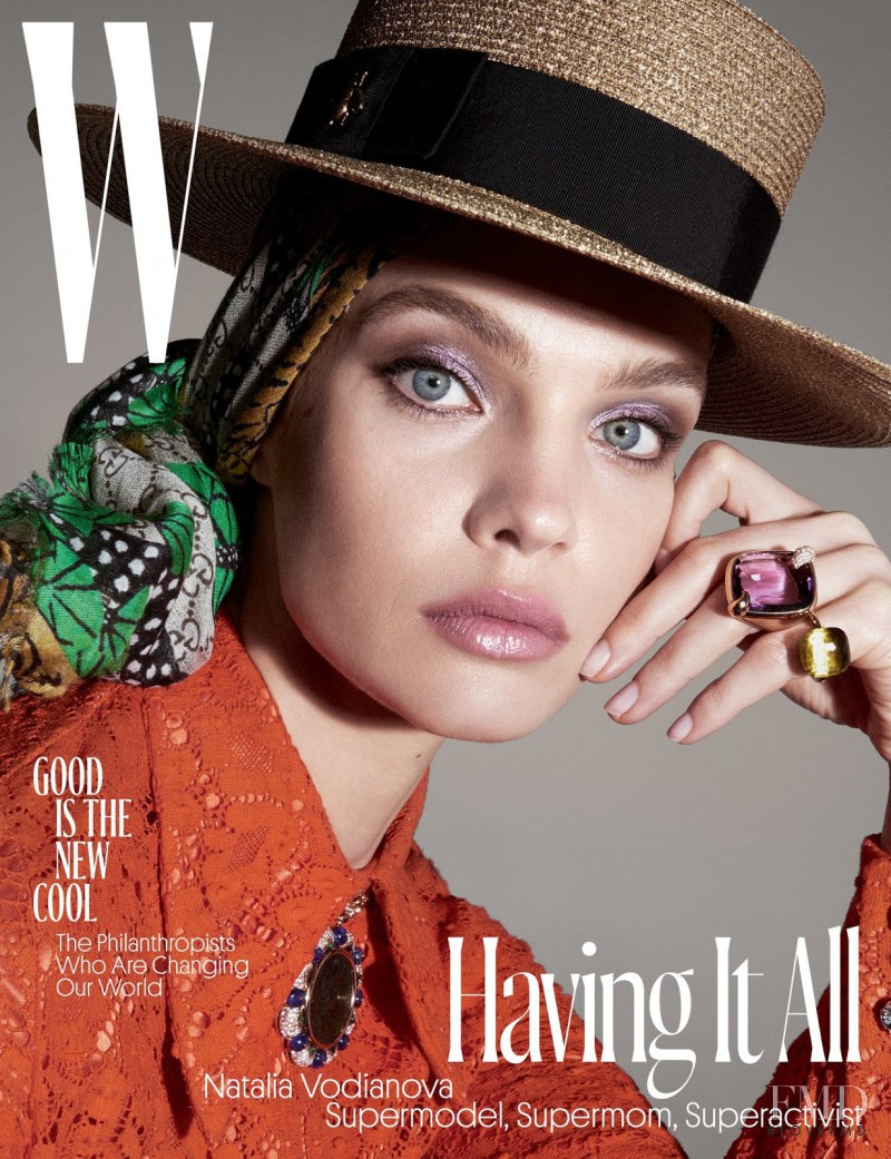 Natalia Vodianova featured on the W cover from June 2017