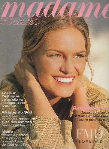Anna Klevhag featured on the Madame Figaro France cover from April 1994