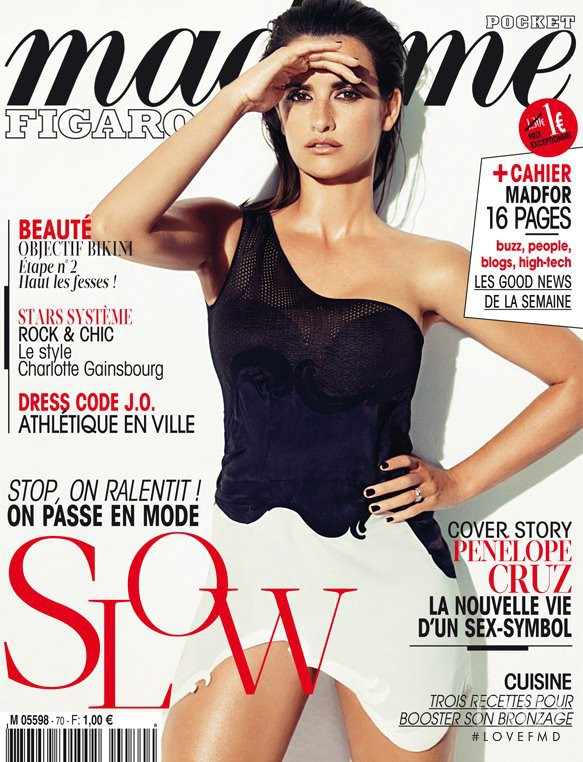 Penélope Cruz featured on the Madame Figaro France cover from June 2012