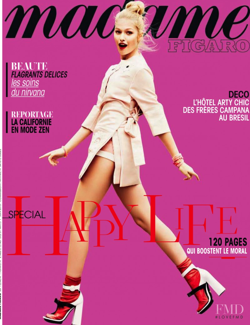 Sophia Beermann featured on the Madame Figaro France cover from May 2013